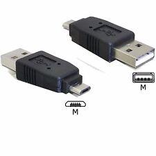 DELOCK 65036 USB 2.0 OTG Adapter USB A STECKER GERADE an auf Micro Stecker ✔💚♥✔