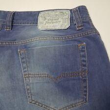 Diesel Industries Viker Regular Straight Blue Button Fly Cotton Jeans 34 x 33