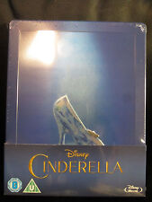 Cinderella 2015 Blu-Ray Steelbook Region Free Disney Classic Live Action Sealed
