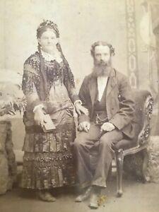 CC BRISBAN Australia EARLY SETTLERS Gypsies? 1880s gr8 style  CABINET PHOTO 9/10