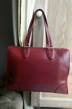 *VALEXTRA* Babila tote in Bordeaux red leather