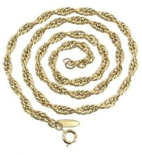 VINTAGE WHITING & DAVIS TWISTED LINK 3 DIMENSIONAL LIGHT GOLD CHAIN NECKLACE 24""