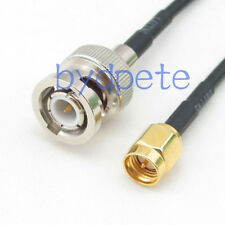 BNC male plug to SMA male plug RF Pigtail Coaxial RG174 black Cable 32in 80cm