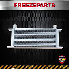 248mm Universal 16 Row AN10 Engine Transmission Aluminum Oil Cooler Silver