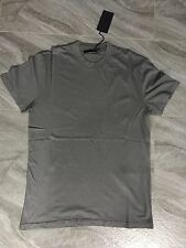 Authentic Mens Prada Classic Grey Round Neck Cotton Jersey T-Shirt Size XS