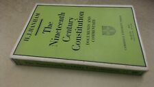 The Nineteenth Century Constitution 1815-1914: Documents and Comm