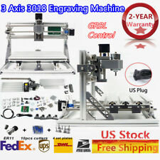 3 Axis DIY CNC 3018+ Mill Wood Router Kit 3D Engraver PCB Milling Machine ER11