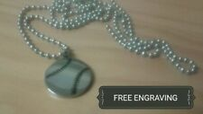 Free Engraving (Personalized) Baseball Softball Necklace Stainless Steel