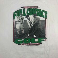THE THREE STOOGES Full Contact Golf single stitch 2000 MENS 2XL T-SHIRT white
