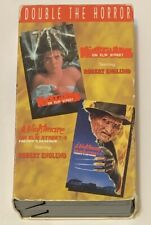 Nightmare on Elm Street Double The Horror VHS 1 and 2 Anchor Bay Robert Englund