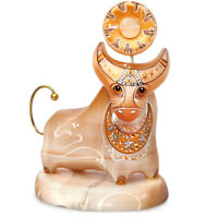 Capricorn Zodiac Sign Selenite Figurine Hand Carved Hand Painted in Russia
