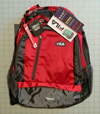 538e489822 Fila FilaTech Duo2 Backpack Bookbag Tablet Laptop NWT Red Free Ship