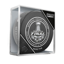 2018 NHL Vegas v Washington Stanley Cup Final Game 5 On-Ice Hockey Puck W/Cube