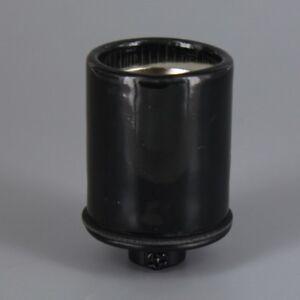 BLACK PORCELAIN ~ Antique Style ~ KEYLESS  E26 Lamp Socket ~ 1/8 IP ~ UL LISTED