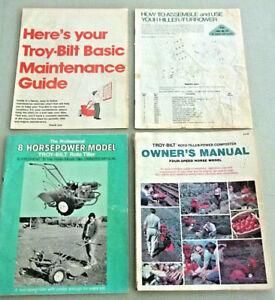 2 TROY-BILT TILLER Composter OWNER'S MANUALS 1979 & 2nd Edition 1980 & Inserts