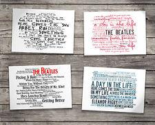 Gift Set THE BEATLES Oversized Postcards & Art Folder Album Lyrics Poster Prints