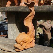 GHISA Curly pesci statua/ornamento/Giardino Caratteristica