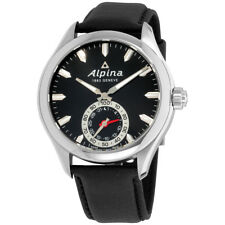Alpina HSW Black Dial Leather Strap Men's Watch AL285BS5AQ6