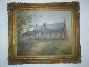 Hill Country Texas Oil Painting of Abandoned Farm House 32x38 Ann MaGruder