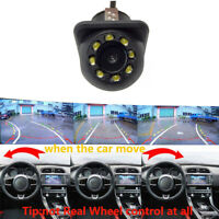 8-LED HD Rearview Camera Parking W/ Dynamic Ruler Waterproof Night Vision