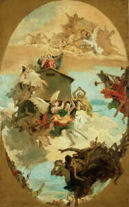 Giovanni Battista Tiepolo The Miracle of the Holy House of Giclee Canvas Print
