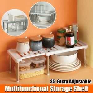 Kitchen Cabinet Shelf Adjustable Countertop Organizer Storage Rack Excellent
