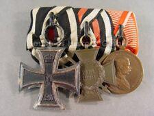 112544, 3er Ordensspange: Eisernes Kreuz + Frontkämpfer + Tapferkeitsmedaille AT