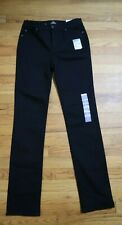 WOMEN'S BLACK STRAIGHT LEG JEANS - ST. JOHN'S BAY - SIZE 6 L - NEW WITH TAGS