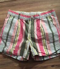 Gymboree Daisy Delightful Girls Shorts Size 7 Pink Green Adj Waist