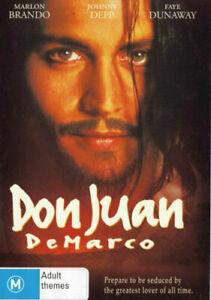 """Johnny Depp Movie """" DON JUAN DE MARCO """" DVD - 1994 Marlon Brando - RARE"""
