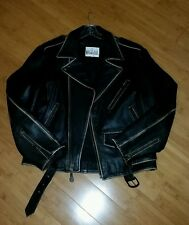 Men's leather motorcycle jacket Size Medium Brown Preowned