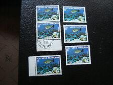 POLYNESIE - timbre yvert et tellier n° 160 x6 obl (A20) stamp polynesia