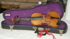 Antique Violin (1/4) 19� Copy Of Antonious Stradivarious Made In Germany W/Case