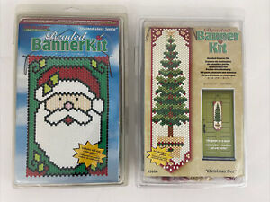 The Beadery Beaded Banner Kit Christmas Tree Santa Claus