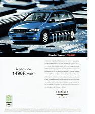 Publicité Advertising 107  2000  Chrysler Voyager Compaq aero