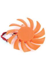 2Pin Arancione 75 mm 7.5 cm 3 FORI 11 LAME PC Scheda grafica video VGA ventola di raffreddamento