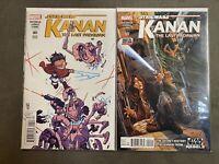 Star Wars Kanan The Last Padawan #1 Young Variant & #2 1st App Wren & Ezra VF/NM