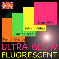100 pack x Fluorescent Neon Blank Postcards - All colours