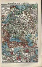 Landkarte map 1910: EUROPÄISCHES RUSSLAND. I/II. Moskau Odessa RIGA WARSCHAU