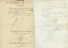 ANTIK Alte Handschrift Urkunde Auszug aus dem Hypothekenbuch Sömmerda 1868