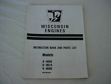 WISCONSIN ENGINE  V- 465D  V- 461D  V- 460D ENGINE, REPAIR  MANUAL BRAND NEW