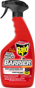 4 Pack of RAID Ant & Roach BARRIER Trigger Sprayer 22 OZ Each LEAVES NO ODOR