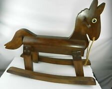 Vintage Wooden Rocking Horse Child Toy Solid