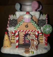 Partylite Exclusive Retired Gingerbread Cottage House Village #1 Tealight Holder
