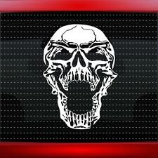 Skull #4 Evil Scream Car Decal Truck Window Sticker Muscle 4x4 Lifted 20 COLORS!