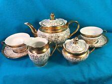 Seltman Weiden Bavaria Anita Tea Set Teapot 2 Cups 2 Saucers Creamer Sugar Bowl
