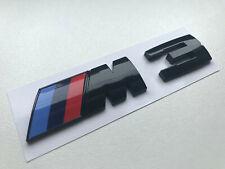 Emblem Zeichen Schriftzug Logo schwarz glänzend für bspw. BMW M3