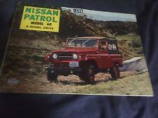 1960s Nissan Datsun Patrol 4X4 SUV Color Brochure Catalog Prospekt