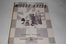 Midget Car Auto Racing Program, Gardena Stadium, California, May 12, 1960