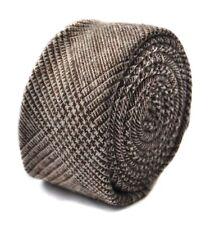 Frederick Thomas 100% laine marron à carreaux tweed HOMME CRAVATE